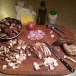Birch boletes & ingredients